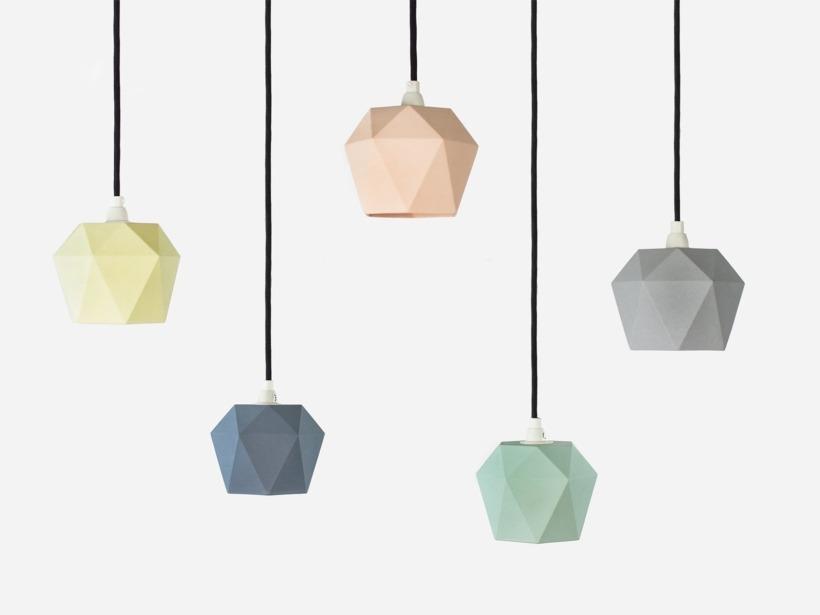 [K1]grau Hängelampe trianguliert