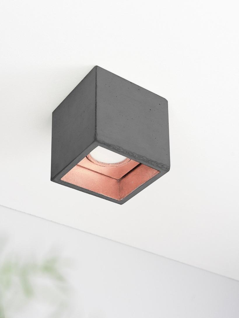 [B7]dark Deckenspot quadratisch