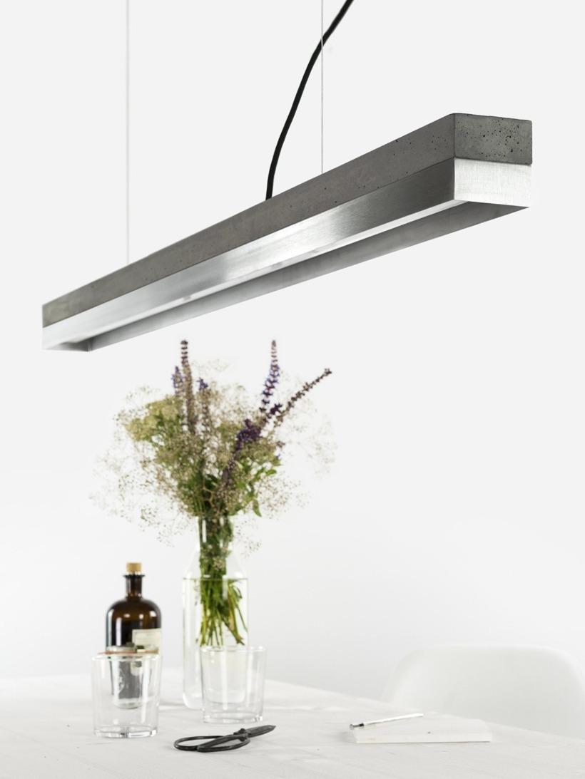 [C1]dark/stainless steel Pendelleuchte Edelstahl