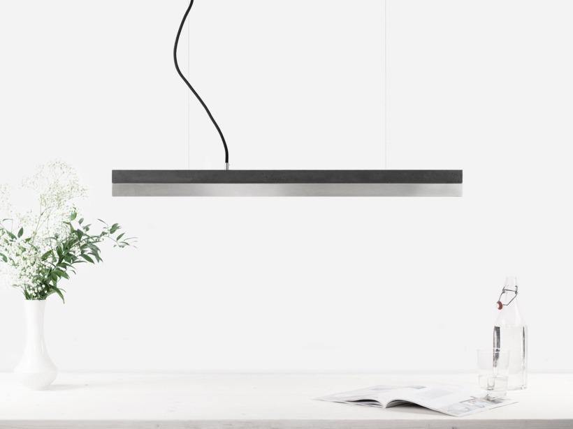 [C2]dark/stainless steel Pendant light small