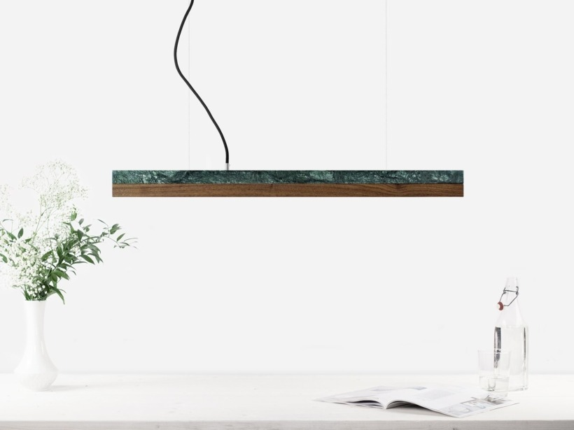 [C2m]nut Pendant light marble and nut small