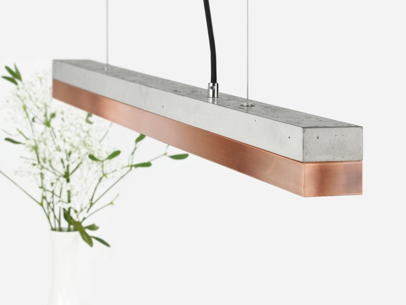 [C2]copper Pendant light small