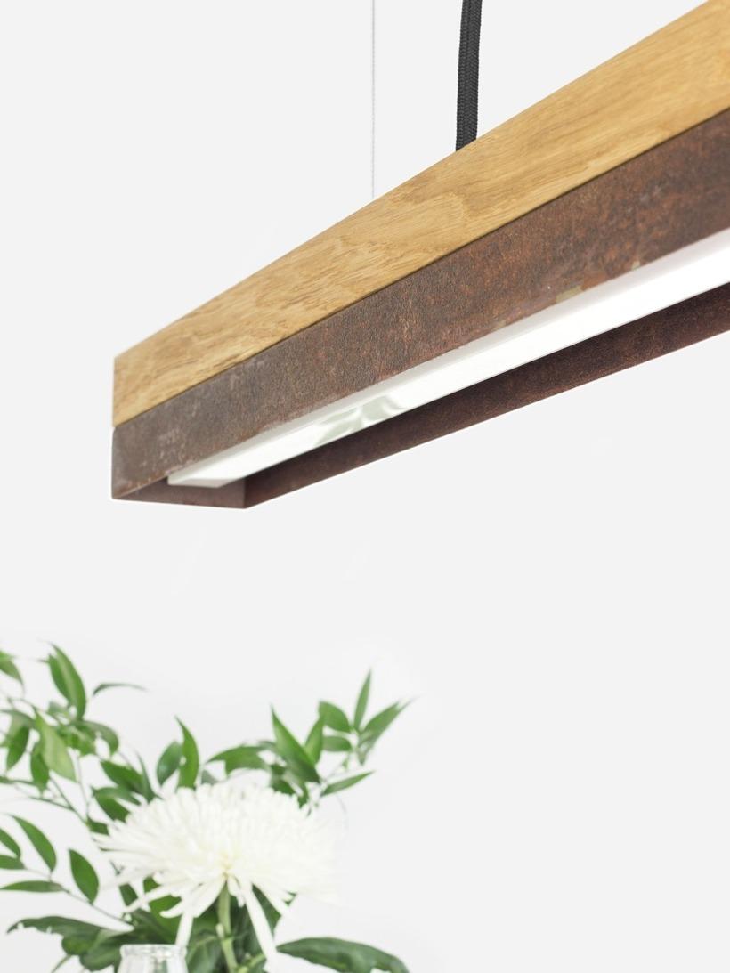 [C2o]corten Pendant light rusty steel small